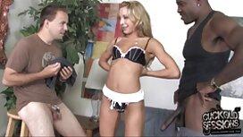 Ein gutaussehender Mann isst ein charmantes Mädchen porn reife frau in verschiedenen Posen.